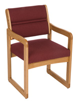 Burgundy Lobby Chair, Floor Standing
