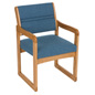 Blue Office Waiting Room Chair, 400 lbs Weight Capacity