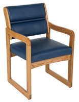 "Blue Reception Room Chair, 21.5"" Overall Width"