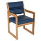 "Blue Reception Room Chair, 33.5"" Overall Height"