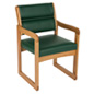"Green Wooden Lobby Chair, 21.5"" Overall Width"