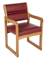 """Wine"" Wooden Lobby Chair, 21.5"" Overall Width"