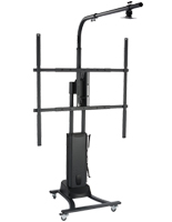 Black Motorized Interactive Whiteboard Stand