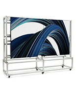 Freestanding video wall mount with sturdy aluminum frame