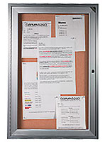 enclosed cork board