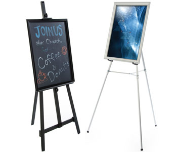 Easels with Frames & Boards
