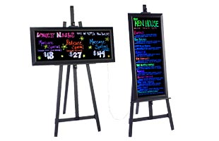 Easels with Write-On Boards