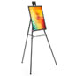 "Black Easel Stand W/ 18"" x 24"" Snap Frame, Powder Coated"
