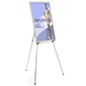 "Silver Easel Stand with 24"" x 36"" Snap Frame with Rubber Arm Brackets"