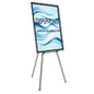 "Black Easel Stand with 36"" x 48"" Snap Frame with Plastic Graphics Protector"