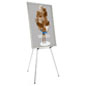 "Silver Easel Stand with 36"" x 48"" Snap Frame with Adjustable Legs"