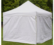 White Portable Canopy with Panels