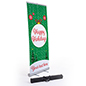"""Happy Holidays"" retractable business banner with stand"