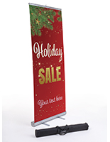 """Holiday Sale"" business banner with carrying case"