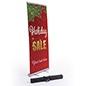 """Holiday Sale"" business banner with telescoping pole"