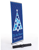 """Tis the Season"" retractable business banner with carrying bag"