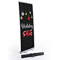 "Commercial ""Holiday Sale"" chalkboard banner with aluminum base"