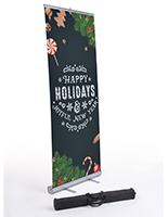 "Commercial ""Happy Holidays"" chalkboard banner with carrying case"
