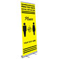 33 inch wide safe distance floor poster with pre-printed artwork