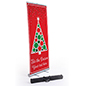 Business banner with Christmas tree with modern red design
