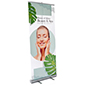 Transparent film roll up banner with UV printed graphics