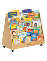 Double Sided Children's Book Display with 10 Shelves
