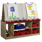 Children's 4 Station Art Easel with Storage & Write-On Boards