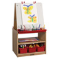 Double Sided Children's Art Easel with Storage & 2 Shelves
