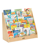 Children's Floor Standing Book Display with Rounded Corners