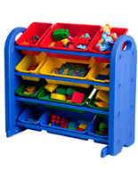4-Tier Children's Plastic Storage Organizer