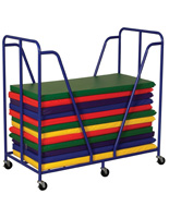 Children's Rest Mat Trolley with Locking Wheels