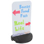 Weighted Base Curb Sign for Promotional Advertising