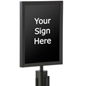 "Black 11"" x 14"" Stanchion Sign Frame"