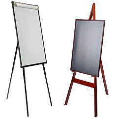 School floor easels for welcome messages and announcements