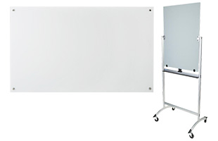 White and black write-on boards for schools