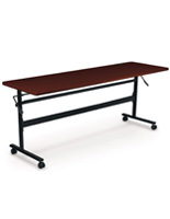 Mahogany Flipper Training Table, Powder Coated