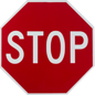 "18"" Stop Sign, Octagon Shaped"