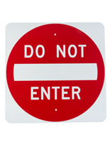 "Do Not Enter Sign, 24"" Overall Height"