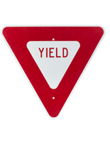 Red Yield Sign, Aluminum