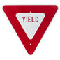 Red Yield Sign, Reflective
