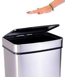 Electric Trash Cans with Motion Sensor Lids