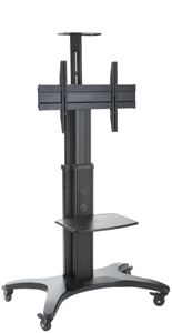 Rollable TV Stand w/ Black Finish