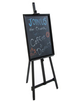"22"" x 28"" Chalkboard with Aluminum Easel"