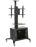 Multimedia TV Stand with Vented Storage for Offices