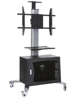 Universal TV Stand with Ventilated Cabinet, VESA Compliant