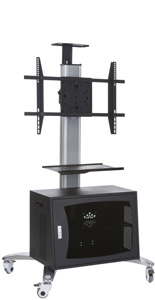Universal TV Stand with Ventilated Cabinet, Modern Design