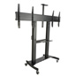 Dual Screen TV Stand, Black