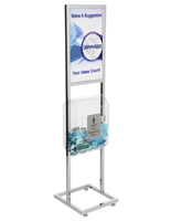 Acrylic Poster Stand with Fundraising Box