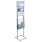 Chrome Poster Stand with Fundraising Box