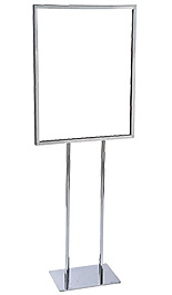 Chrome 22x28 Top Loading Poster Stand